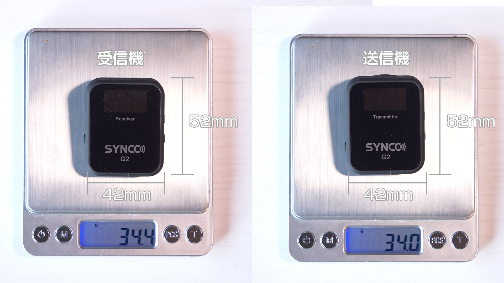 SYNCO G2(A2) の本体サイズ